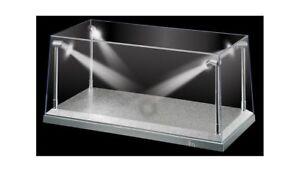 1:18 Silver LED Display Case (L) 35.5cm x (W) 15.6cm x (H) 16cm (KC9922)