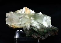 APOPHYLLITE ON STILBITE CRYSTAL MINERAL ZEOLITE SPECIMENS #A9