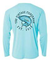 Microfiber Long Sleeve Fishing Shirt UPF 50 Sun Shirt Tarpon