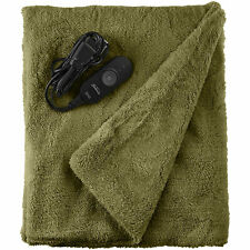 Sunbeam LoftTec Ultra-Soft Heated Electric Throw Blanket - Sage Green