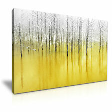 Snow Forest Yellow Tone Canvas Framed Print 30X20 INCH / 76x50CM