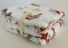 POTTERY BARN RUDOLPH Red-Nosed Reindeer TWIN Flannel SHEET Set ~NEW w/ TAGS
