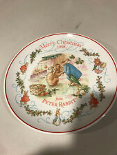 Wedgwood Peter Rabbit Christmas Plate 1998 Peter Rabbit 1185531 Rare