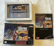 SNES Super Star Wars The Empire Strikes Back Complete Super Nintendo Game CIB