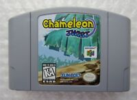 ✅ *GREAT* Chameleon Twist Nintendo 64 N64 Video Game Cart Authentic Super Rare