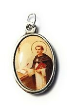 """St Thomas Aquinas Relic 1"""" medal patron against storms; against lightning"""