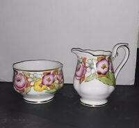 "Vintage Royal Albert Bone China Small Bowl &  Creamer ""Bouquet"" Pattern Dishes"
