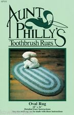 Aunt Philly's OVAL toothbrush rag rug pattern how to make your own AP101