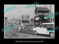 OLD LARGE HISTORIC PHOTO OF BULLI NSW VIEW OF THE RAILWAY CROSSING c1960