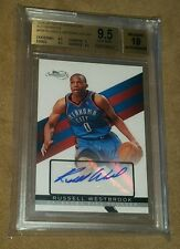 2008-09 TOPPS SIGNATURE RUSSELL WESTBROOK AUTO RC BGS 9.5 W 10 SIG #/184 SSP!
