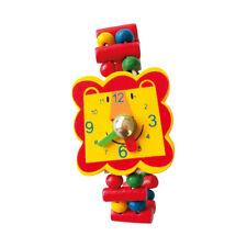 """Bino 9987137 Armband-Uhr """"Löwe"""" rot/gelb aus Holz für Kinder NEU! #"""