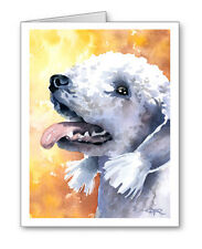 Bedlington Terrier Set of 10 Note Cards With Envelopes