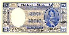 Chile … P-91b … 5 Pesos … 7.6.1933 … *XF+*.