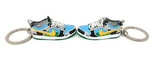 Pair SB Dunk Low Ben and Jerry OG Sneakers Chunky Dunky Mini Shoes 3D Keychains
