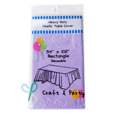 """54"""" x 108"""" Plastic Table Cover Birthday Wedding Party Supplies Tablecloth"""