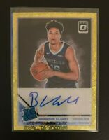 Brandon Clarke 2019-20 Donruss Optic Fast Break Gold Rated Rookie RC Auto #6/10