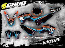 SCRUB KTM graphics decals kit EXC 125 250 300 450 530 2008-2011 stickers '08-'11