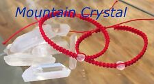 Red Thread Protection Evil Eye Handmade Set Of 2 Bracelet Mountain crystal