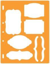 Fiskars Shape Template Stencil Scrapbook Xpress Craft Select Your Design Bracket & Journal