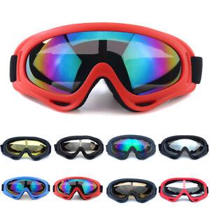 Adult Protection Goggles Bike Bicycle Cycling Anti-Fog Ski Windproof Glasses