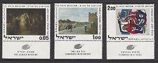 ISRAEL # 432-434 MNH ART WORKS FROM TEL AVIV,  ART MUSEUMS. JEWISH WEDDING