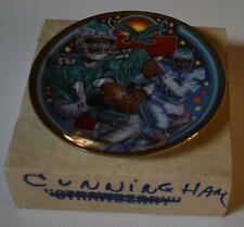 VHTF 1990 Sports Impressions RANDALL CUNNINGHAM Eagles Mini Plate w/ Box 4.25 in