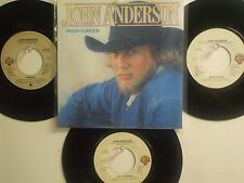 LOT OF 4  ' JOHN ANDERSON ' HIT 45's+PS(Copy)       THE 80's!