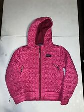 Patagonia Girls Craft Pink Sweater Jacket Coat Hooded Size XS X-Small (5-6)
