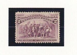 USA Stamps 1893 Scott # 231 Landing of Columbus  2 Cent Mint