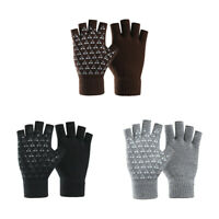 Half-finger Gloves Fingerless Outdoor Student Typing Knitted Winter Warm Glove U