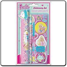Set Cancelleria Barbie con sharperner Righello, matita e più