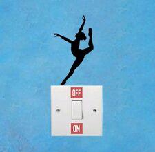 Ballet girl gymnast dance light swith vinyl decal sticker girl  home decor