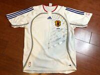 VTG  Japan JFA  Soccer Jersey Size 38/40 White Clima Cool 2005