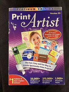 Nova Development Print Artist Platinum 23 Brand New