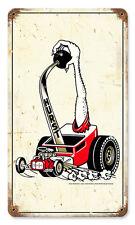 Original HURST Floor Shift Hairy Arm Hot Rod Car Retro Sign Blechschild Schild