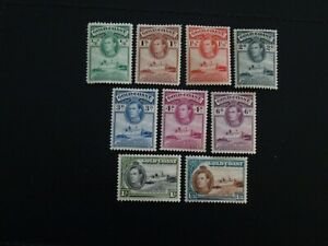 Gold Coast Stamps SG 120/126,128/29 all MM issued 1938-44 Part set 9 of 13.