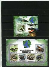 MOZAMBIQUE 2011 Sc#2173,2003 REPTILES/CROCODILES SHEET OF 6 STAMPS & S/S MNH