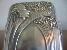 Cigarette case 800 silver art nouveau romantic beauty