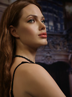 Life Size Angelina Jolie Movie Star Wax Statue Realistic Prop Display Figure 1:1
