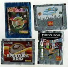 4 envelopes stickers Panini  futbol argentino   2010 2019