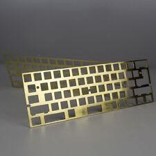 KBDfans New arrival hairline finish brass 60% plate diy mechanical keyboard GH60