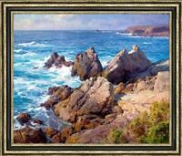 "Hand-painted Original Oil painting art landscape ocean wave On Canvas 30""x40"""