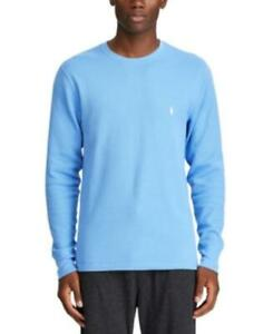 Polo Ralph Lauren Men's Waffle-Knit Thermal Pajama PJ Shirt, Blue, Size M, NwT