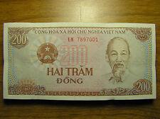 Vietnam 1987 Two Hundred 200 Vietnamese Dong Paper Money Banknote P#100 UNC