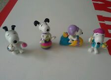 Easter snoopy figures lot of 4 pvc snoopy easter eggs