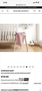Sheridan Baby Pram Blanket Wool Cashmere BNWT RRP$119.95