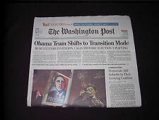 3 WASHINGTON POST OBAMA ELECTION SECTIONS  NOV 6  2008 TIM KAINE ON FRONT PAGE