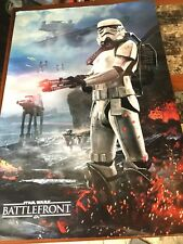 Star Wars Battlefront Video Game Double Sided Promo Poster EA Lucasfilm