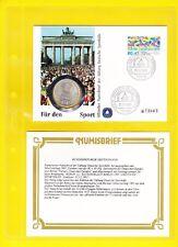 Numisbrief Für den Sport 1991 Stiftung Deutsche Sporthilfe