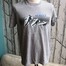 Nike Air Max 90 Trainers Grey Cotton T Shirt Men's Size M Medium